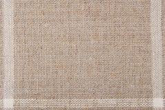 Linen hessian fabric texture. Background Stock Photos
