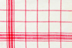 Linen Kitchen Towel. A Red and White Linen Kitchen Towel Royalty Free Stock Photo