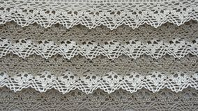 Linen lace with beads royalty free stock images