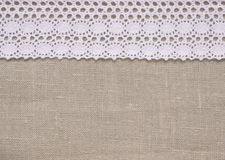 Linen and lace. Royalty Free Stock Images