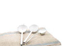 Linen and ladles Stock Photography