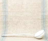 Linen and ladles Royalty Free Stock Images