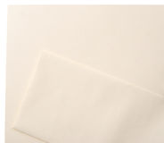 Linen Letterhead Envelope blank set Stock Images
