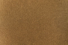 Linen. Macro photography. Linen texture in brown color Stock Images