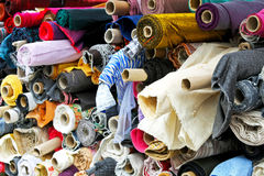 Linen materials Stock Image
