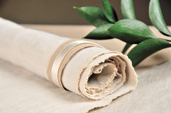 Linen napkin Stock Photos