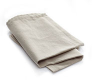 Linen napkin. On a white background Royalty Free Stock Images