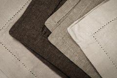 Linen napkins Stock Image