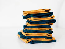 Linen napkins stack Royalty Free Stock Photography