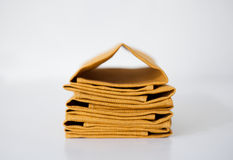 Linen napkins stack Royalty Free Stock Photo