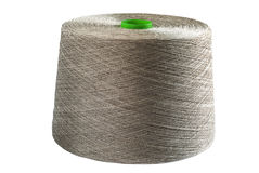 Linen natural yarn bobbin Stock Image