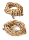 Linen rope isolated Royalty Free Stock Images