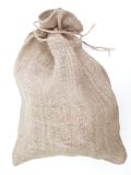 Linen sack Stock Photo