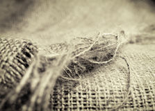 Linen sack texture background Royalty Free Stock Images