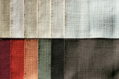Linen sampler Royalty Free Stock Photography