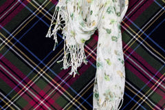 Linen scarf Stock Images