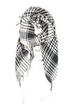 Linen scarf in black and white cage Stock Photography