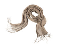 Linen scarf Royalty Free Stock Image
