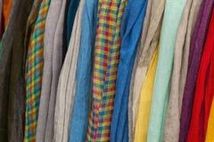 Linen scarfs Stock Image
