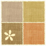 Linen serviette weave с applique и краем Стоковые Изображения RF