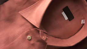 Linen shirt. Red shirt short sleeves the material of the shirt is linen Stock Image