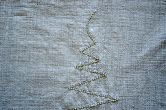 Linen shirt background embroider ornament closeup Royalty Free Stock Image