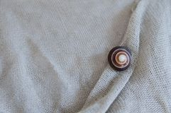 Linen with snail shell Royalty Free Stock Image