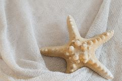 Linen with starfish Royalty Free Stock Images