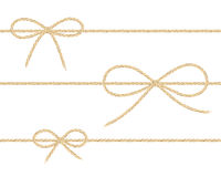 Linen string bows Royalty Free Stock Image