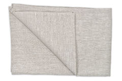 Linen tablecloth. On white background Stock Photography