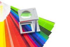 Linen tester. On color chart royalty free stock images