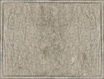 Linen textile. Natural color linen textile texture with frames royalty free stock images