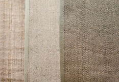 Linen textile texture and place for text.  Royalty Free Stock Image