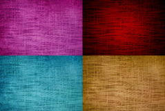 Linen texture. Four color linen texture of background Stock Photos