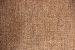 Linen texture. Brown linen fabric for texture works Stock Photography