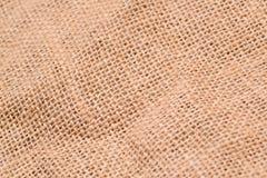 Linen texture. Brown linen texture background, macro Stock Image