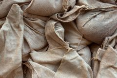 Linen texture closeup Royalty Free Stock Image