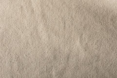 Linen Texture. Closeup of beige linen texture Royalty Free Stock Photo