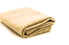 Linen texture fabric table mat Royalty Free Stock Image