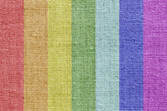 Linen texture in the rainbow colors Stock Photo