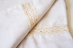 Linen texture. Linen textile texture in macro Royalty Free Stock Photos