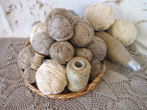 Linen threads Royalty Free Stock Photos