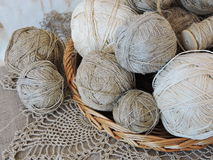 Linen threads Royalty Free Stock Image