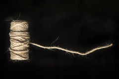 Linen twine for binding packages Stock Photos
