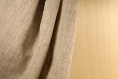 Linen unpainted fabric Stock Image