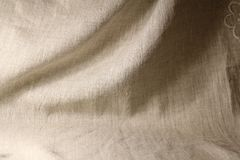 Linen unpainted fabric Stock Images