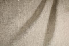 Linen unpainted fabric Stock Photography