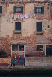 Linen in Venice streets. Colorful photo of traditional venice streets in Italy Stock Photo
