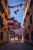 Linen in Venice streets. Colorful photo of traditional venice streets in Italy Stock Photos