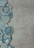 Linen and vintage lace Stock Photos